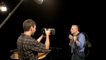 Shooting Larry King for Chabad telethon!